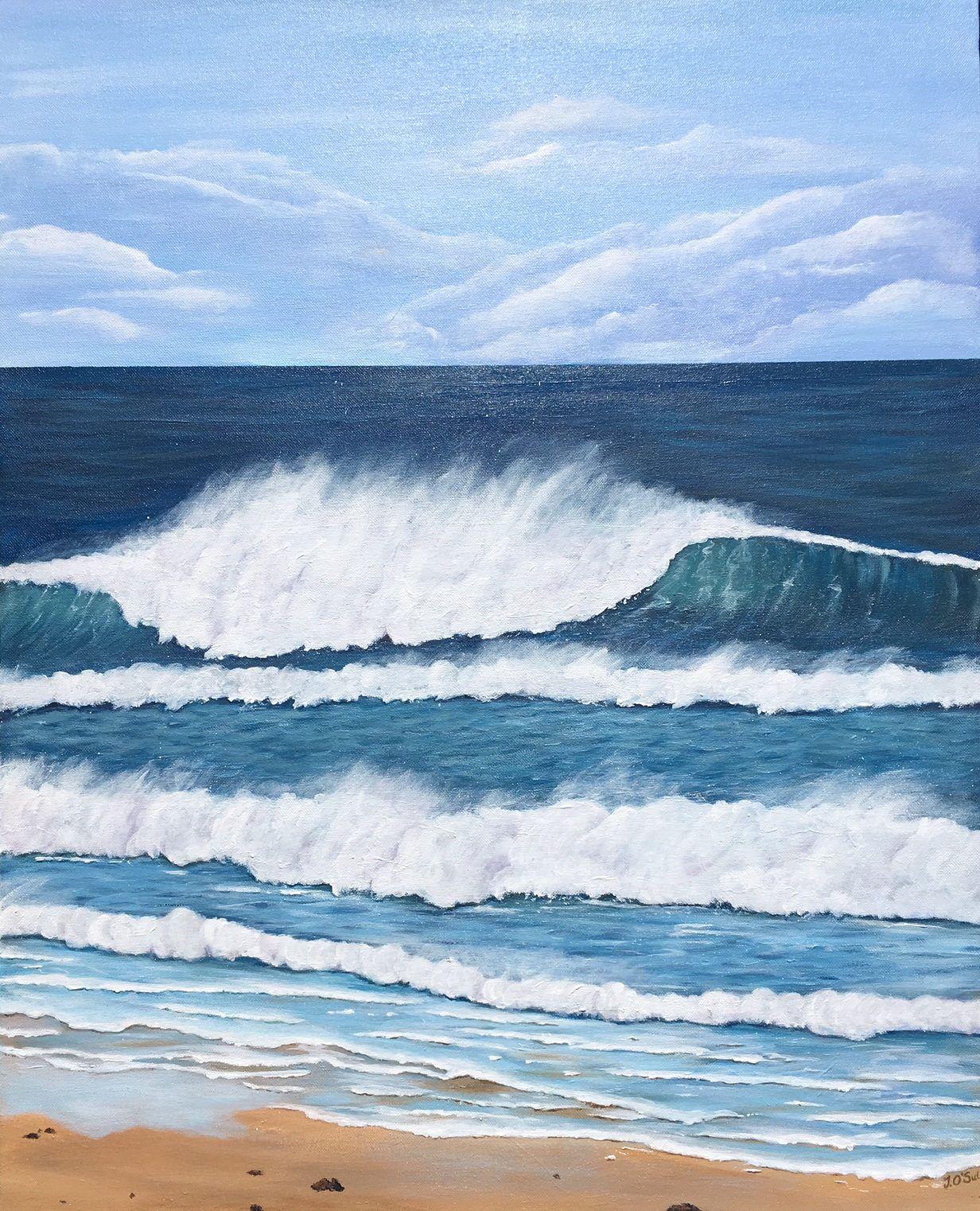 Original Australian Seascape Acrylic on Canvas Hastings