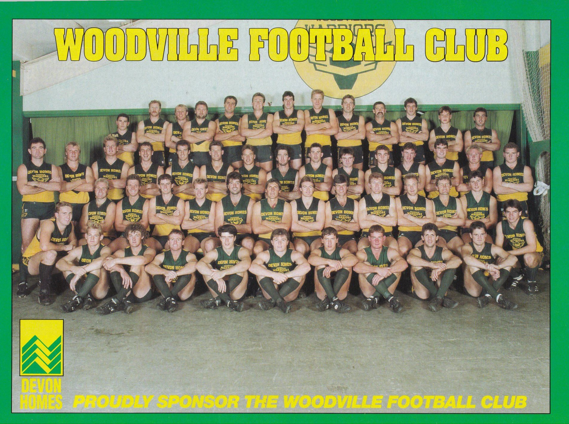 Woodville Warriors 1990 Squad Sanfl Football Club Woodville Warrior