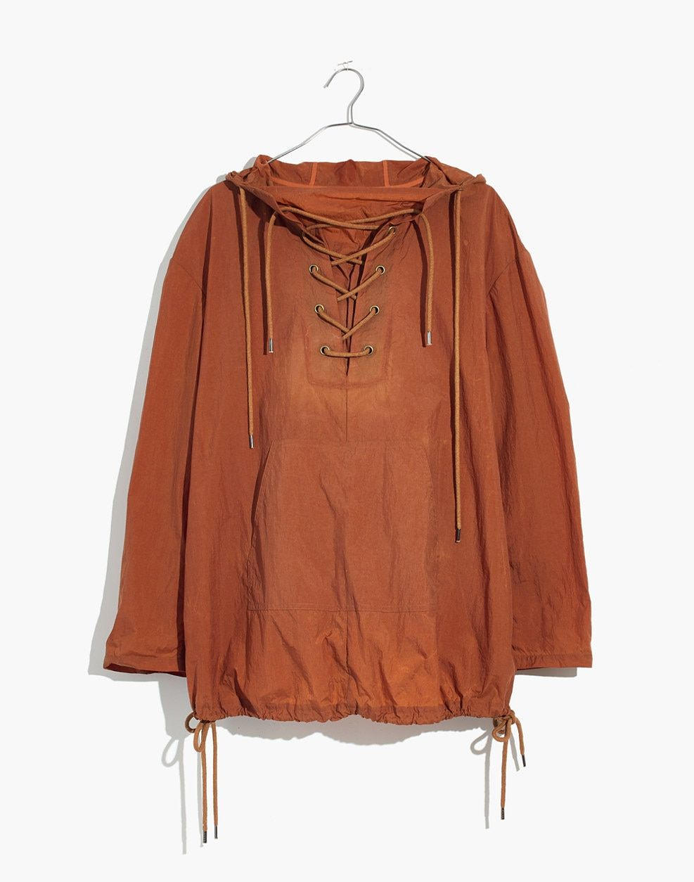 30d1b2d383a Madewell Lace-Up Popover Jacket