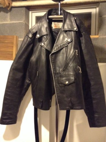Men's Motorcycle Leather Jacket Black by The Leather Shop Sears 46 ...