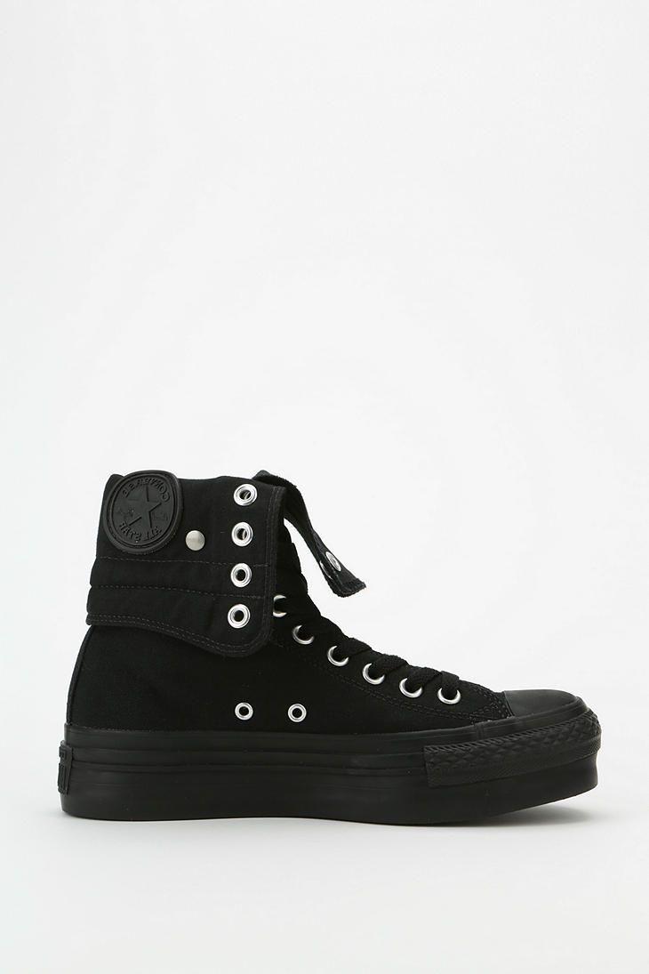 edd7130cb6bc Converse Chuck Taylor All Star Fold-Over Women's High-Top Platform-Sneaker