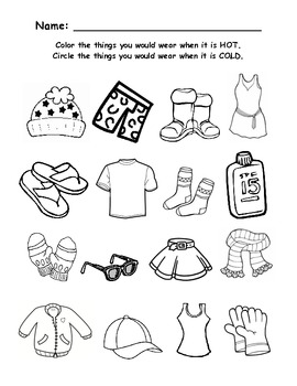 da8a7e7998818305179a04477af8cd7d hot or cold worksheet or and worksheets on la ropa worksheet