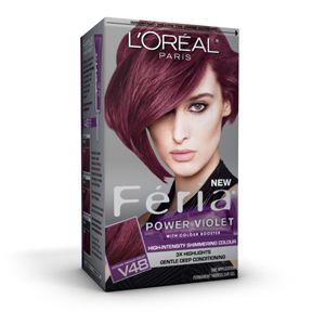 Feria 3x Highlights Conditioning Hair Color L Oreal Paris In Violet Vixen