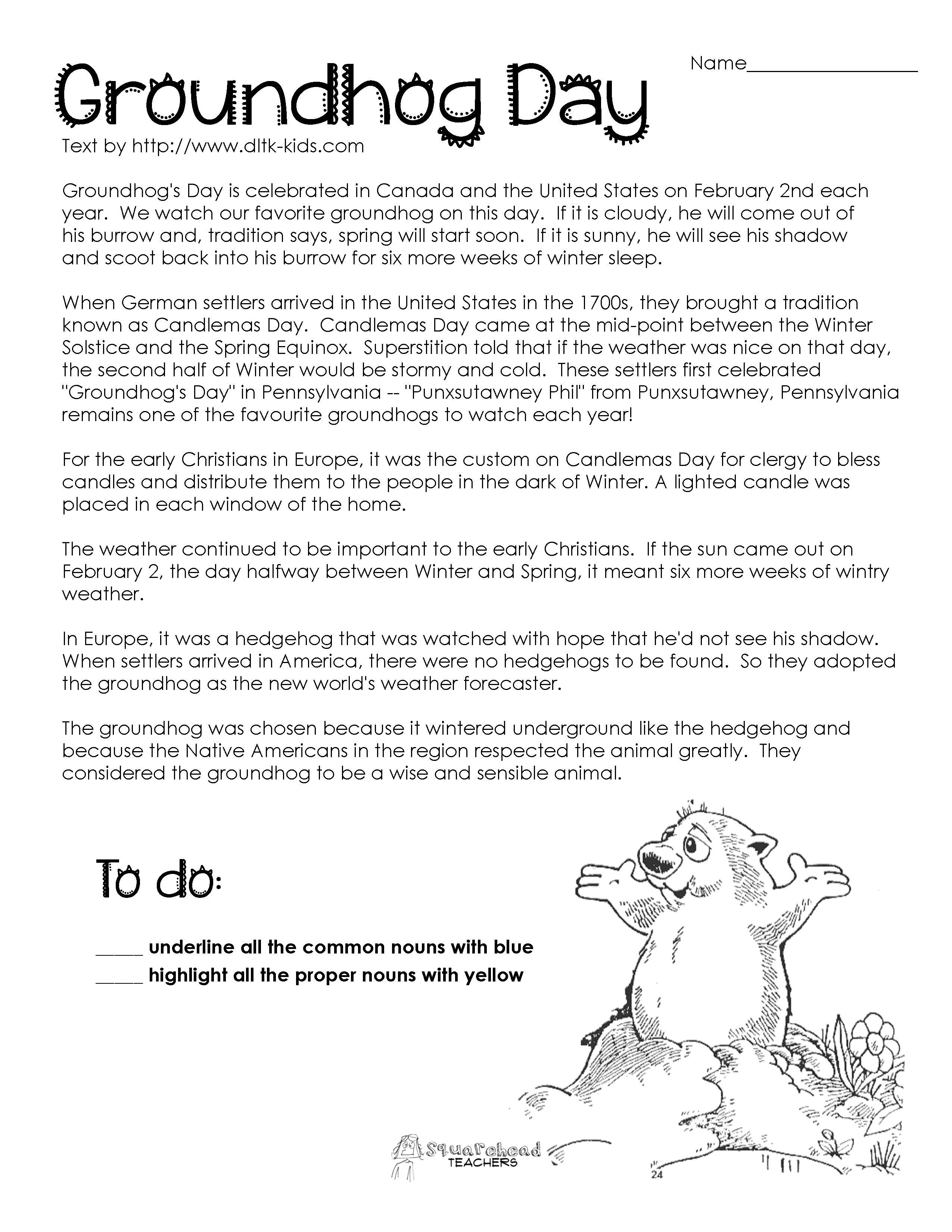 Groundhog Day Activity   Misc Holidays   Pinterest
