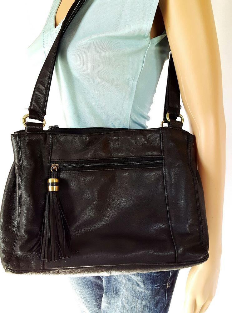 Cabin Creek Black Leather Handbag  Excellent Condition | Clothing, Shoes U0026  Accessories, Womenu0027s