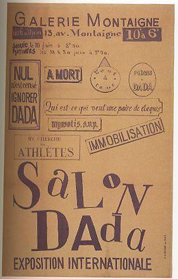 Tristan Tzara, Salon Dada, 1921 Poster. Lithograph