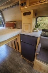 """Photo of Storage space and fridge in """"Half Dome""""! Check out the project gallery on our we…"""