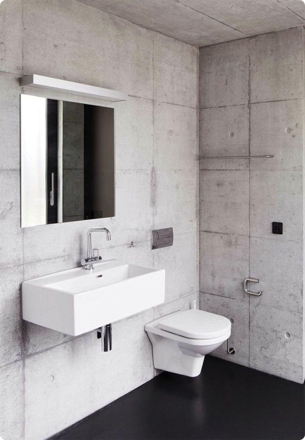 Modern concrete bathroom design | Bydlení | Pinterest | Concrete ...