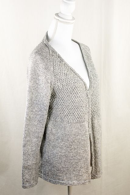 ede1c4ad6 Sarasota Textured Top Down Cardigan Free Knitting Pattern