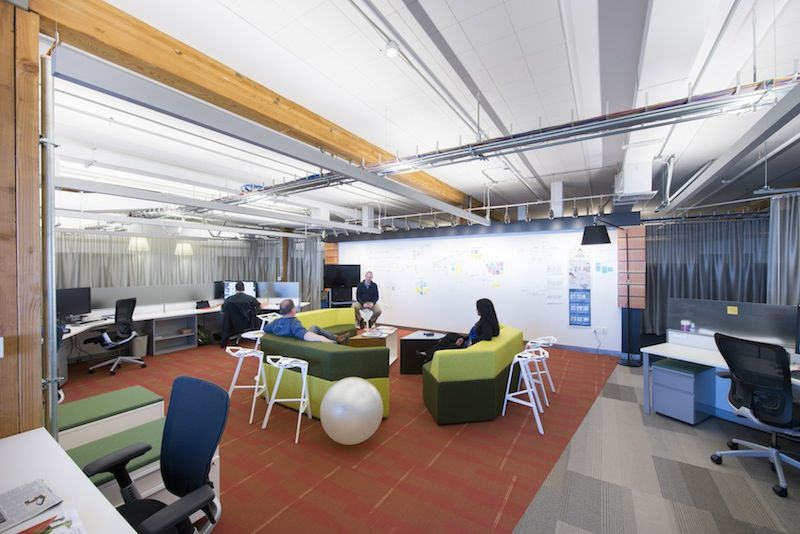 prism in green. hightower prism lounge spotted at microsoft's s.f., Innenarchitektur ideen
