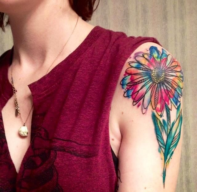 Watercolor Tattoo Artist Russell Van Schaick In Orlando Florida