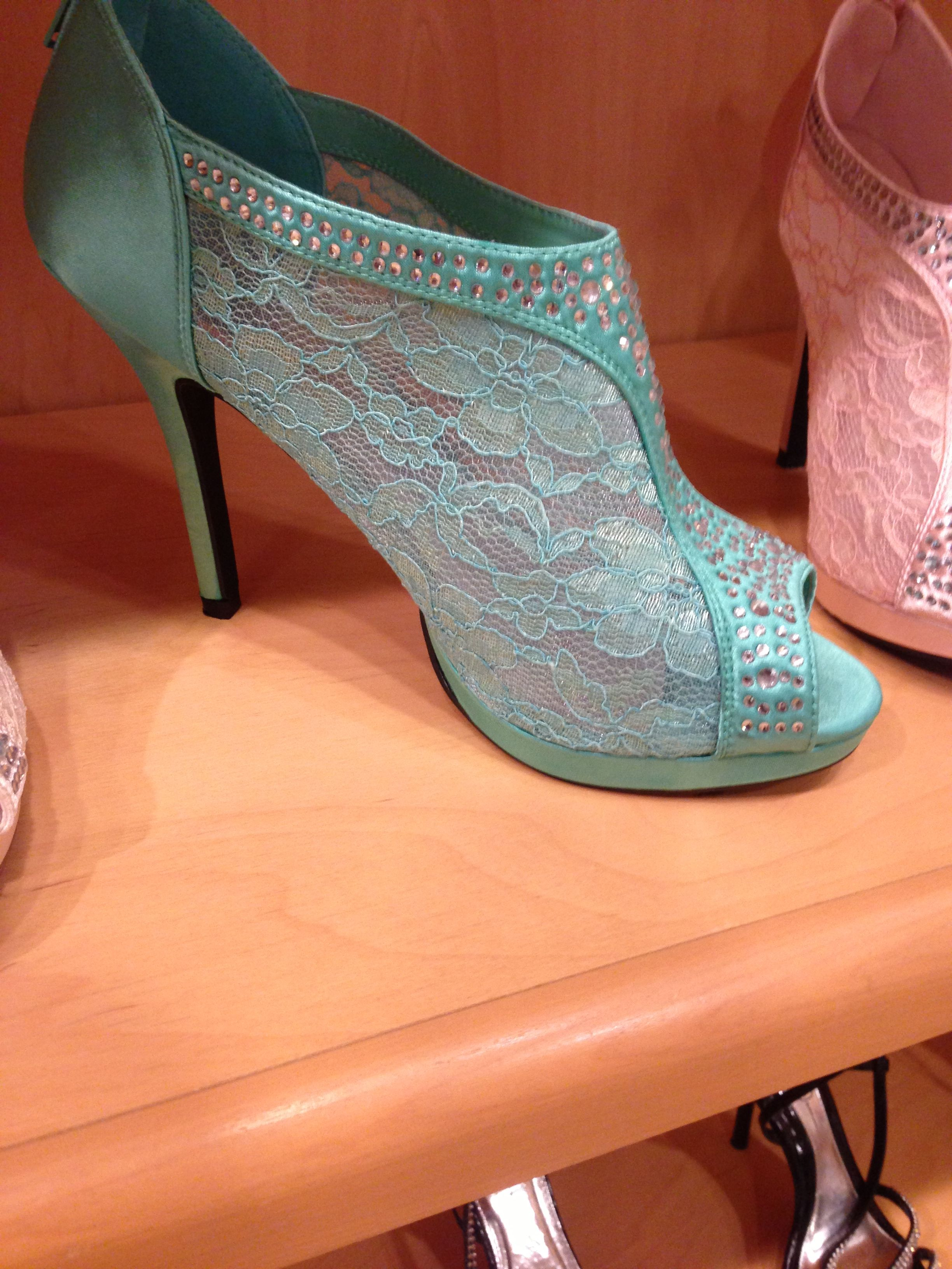 Teal high heels from tiger lily love love love high heels