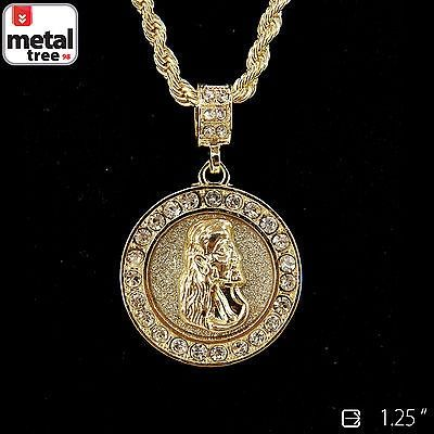 Mens hip hop gold plated jesus piece 24 4mm rope chain pendant nice mens hip hop gold plated jesus piece 24 4mm rope chain pendant necklace set for sale aloadofball Choice Image