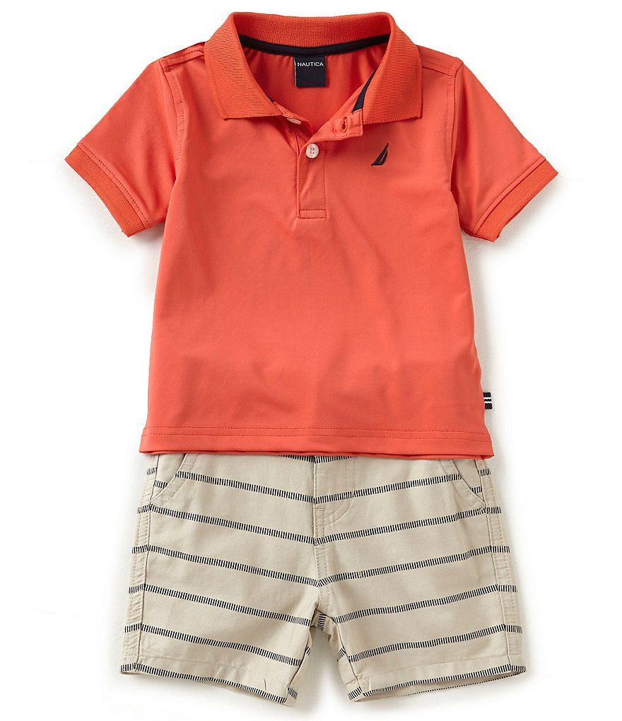 069099fa0 Nautica Baby Boys 12-24 Months Solid Short-Sleeve Polo Shirt & Printed  Shorts Set