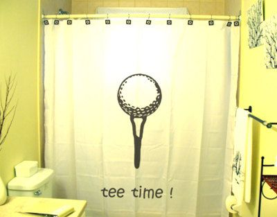 Golf Shower Curtain Golfing Bathroom Decor Gift For Golfer