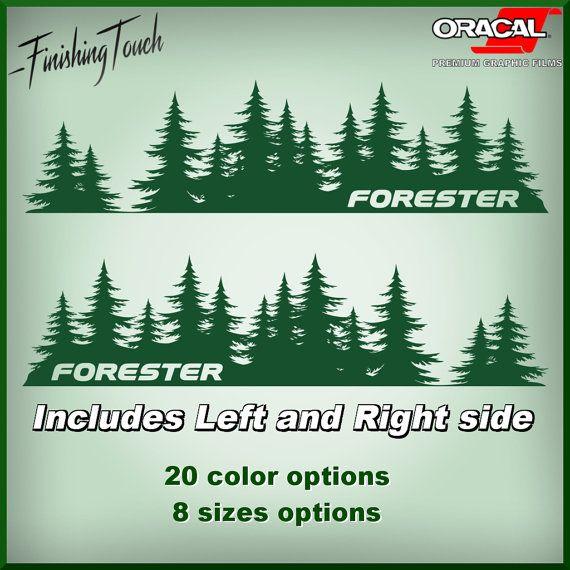 Subaru Forester Decal Custom Vinyl Door Graphic Silhouette Tree - Custom vinyl decals colorado springs