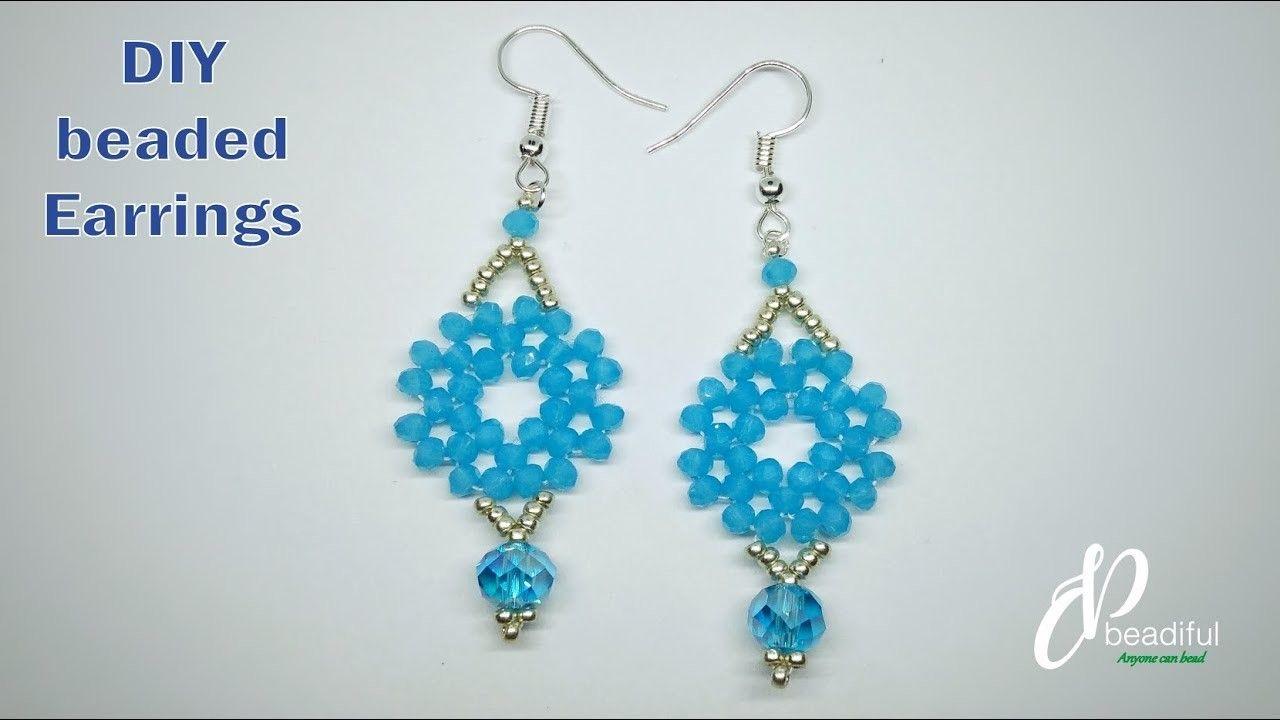 Easy to make earrings diy beaded earrings for