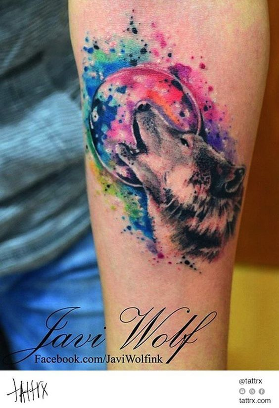 Wolves Watercolor Tattoos And Small Wolf Tattoo On Pinterest