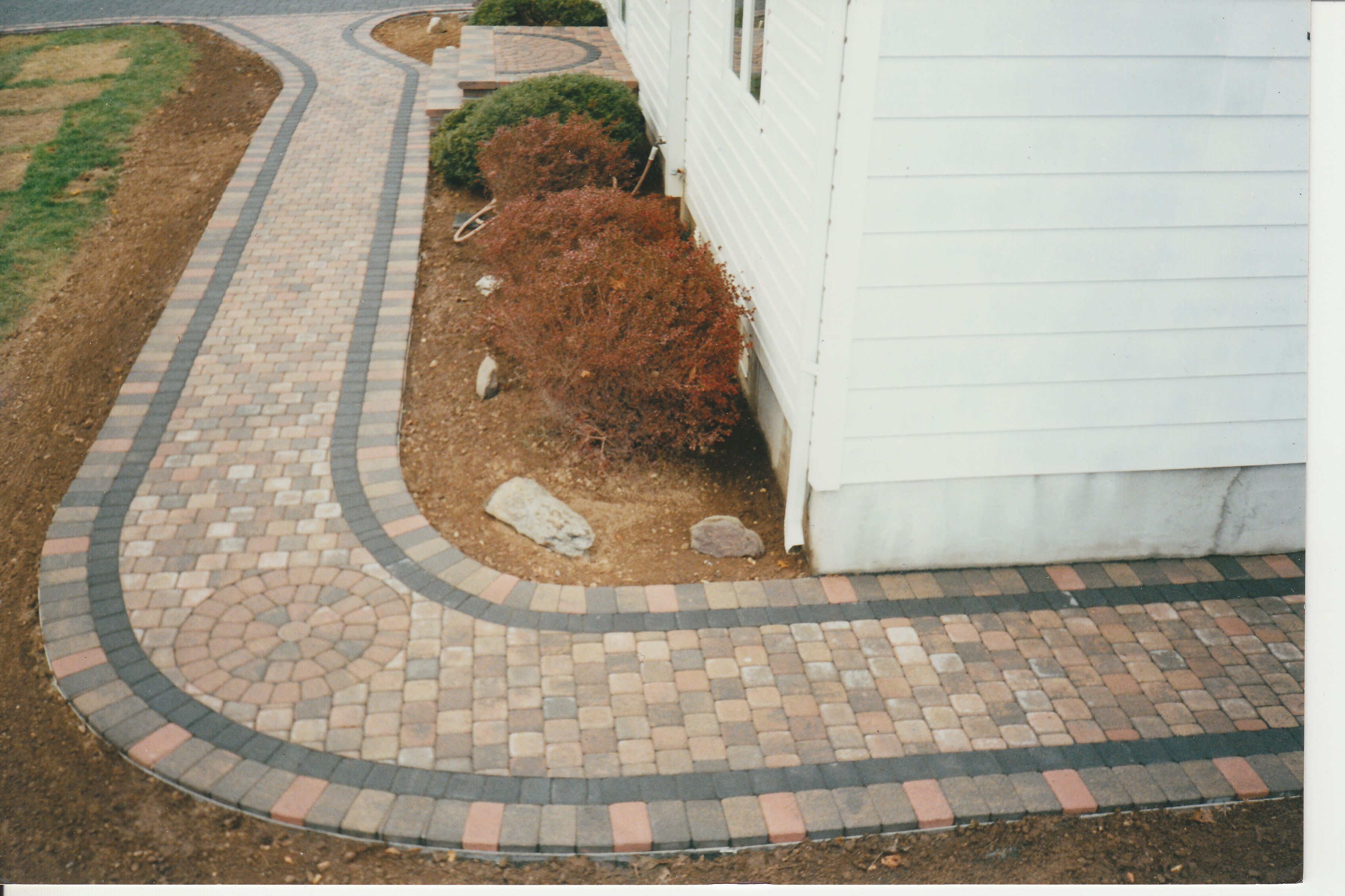 "Brick Paver Walkway Designs Pavers For Walkways Ideas  Thoughts On "" Concrete Paver Walkway"