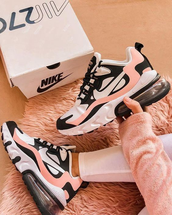 "Womens Nike Air Max 270 React ""Bleached Coral"" in 2020 ..."