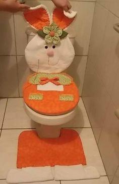 Quem ñ quer um jogo de banheiro lindinho como esse de coelhinho da páscoa?? Euuuuuuuuu!!!!