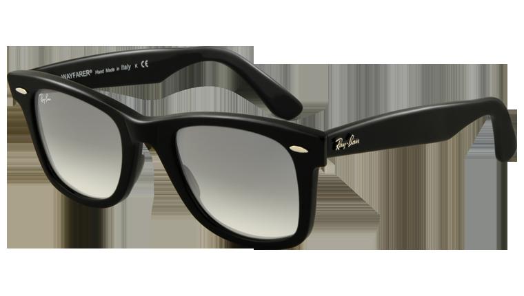Ray Ban Original Wayfarer Black Frame With Gradient Grey Lens Black Wayfarer Sunglasses Ray Ban Sunglasses Sale Discount Ray Ban Sunglasses