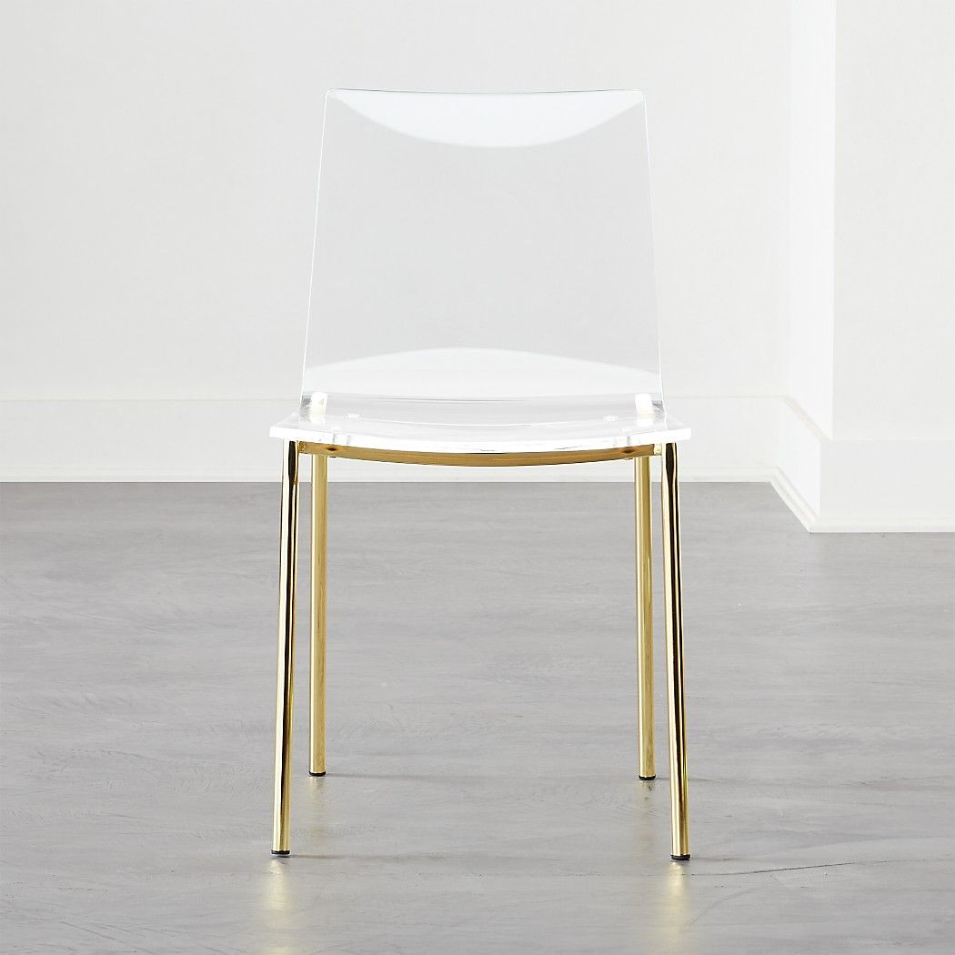 Chiaro Clear Chair Gold In 2020 Dining Chairs Clear Dining