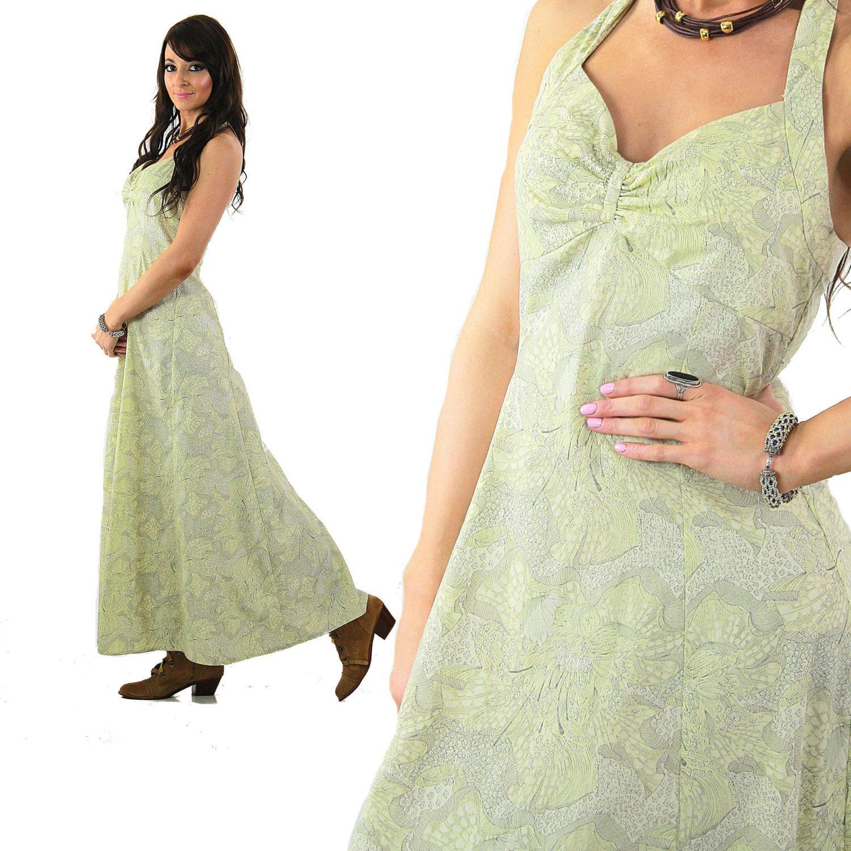 7192349cb62 Liberty of London Boho maxi dress tropical floral Pastel open back halter