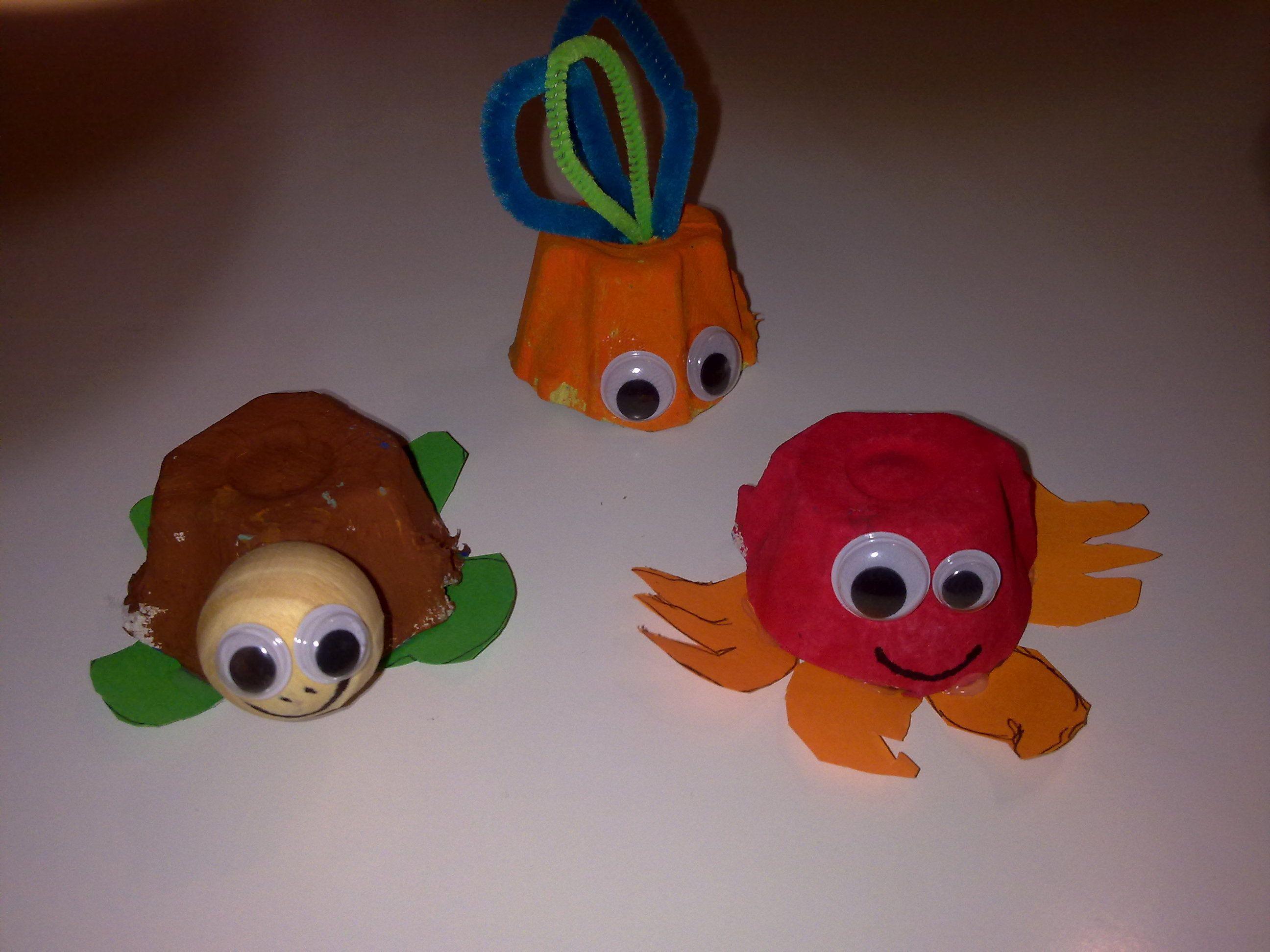 Bambini Simpatici ~ Simpatici animaletti ricavati dal cartone delle uova lavoretti