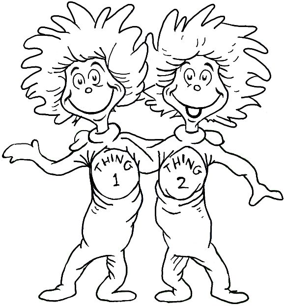 Free dr seuss clip art outline yahoo search results for Dr suess coloring page