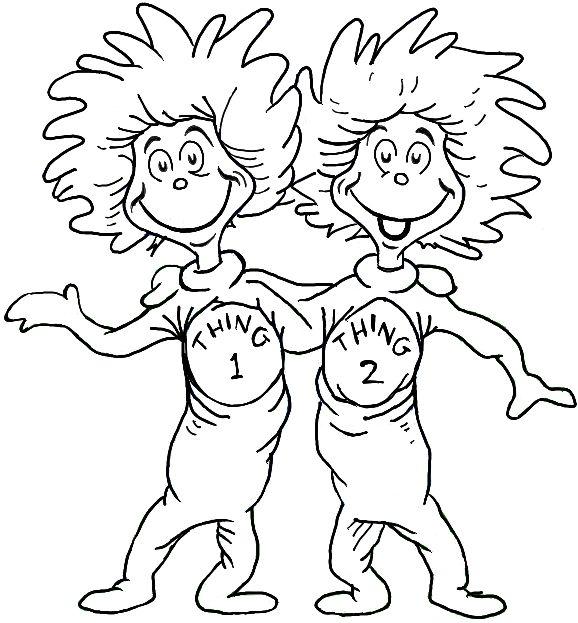 Free Dr Seuss Clip Art Outline