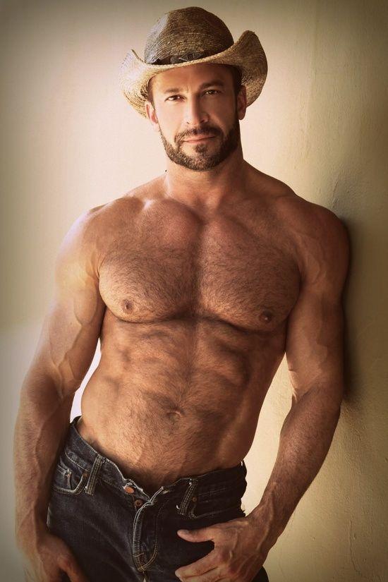 Hairy Muscle Daddy. Men. Beards. Cowboy.