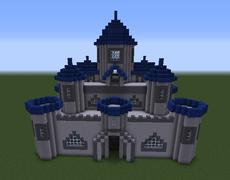 Castle With Blue Towers  Castle Blueprints  Pinterest  Castles