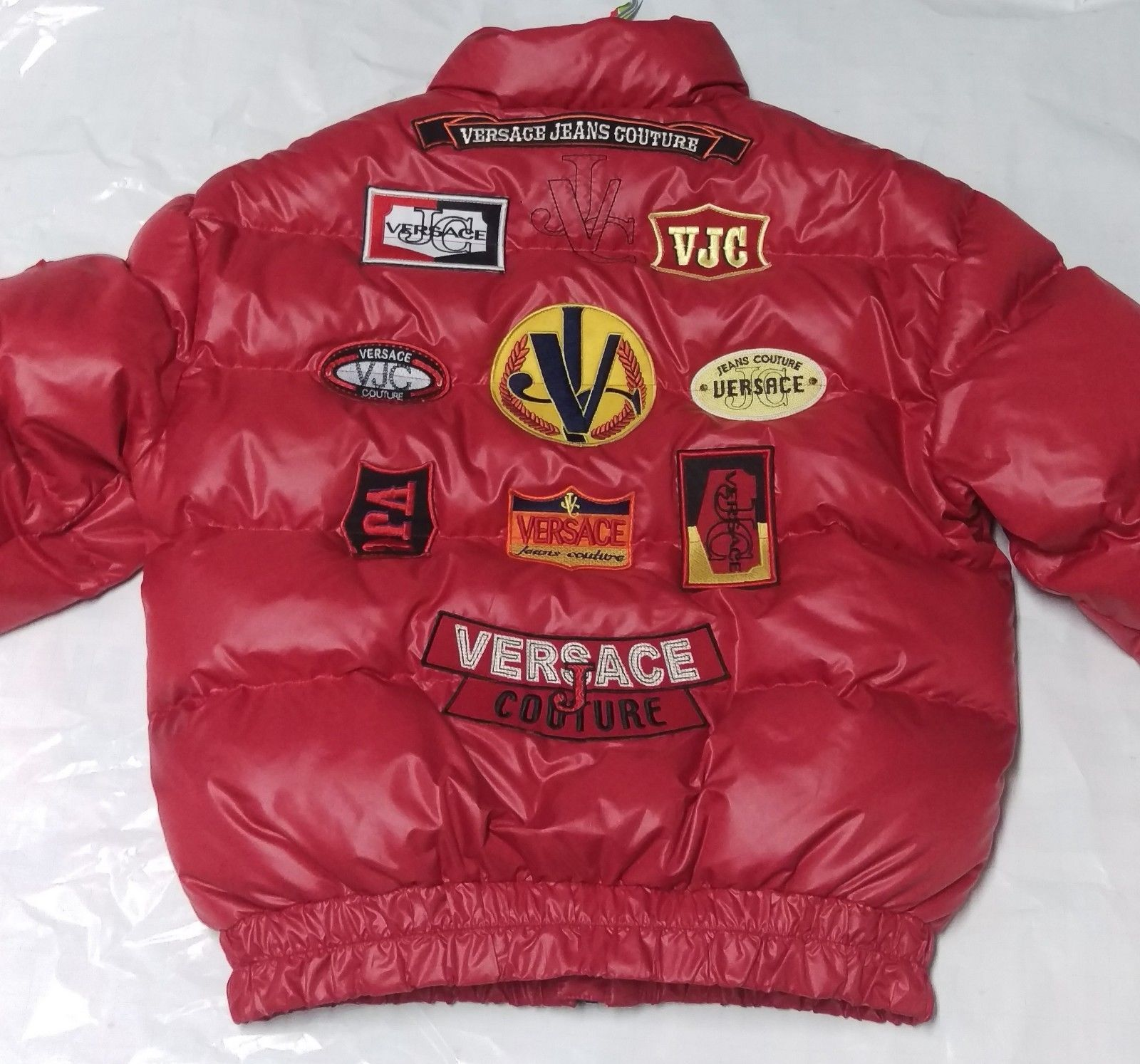 100 Authentic Vintage Versace Jeans Couture Down Jacket Size Xl Bomber Idee