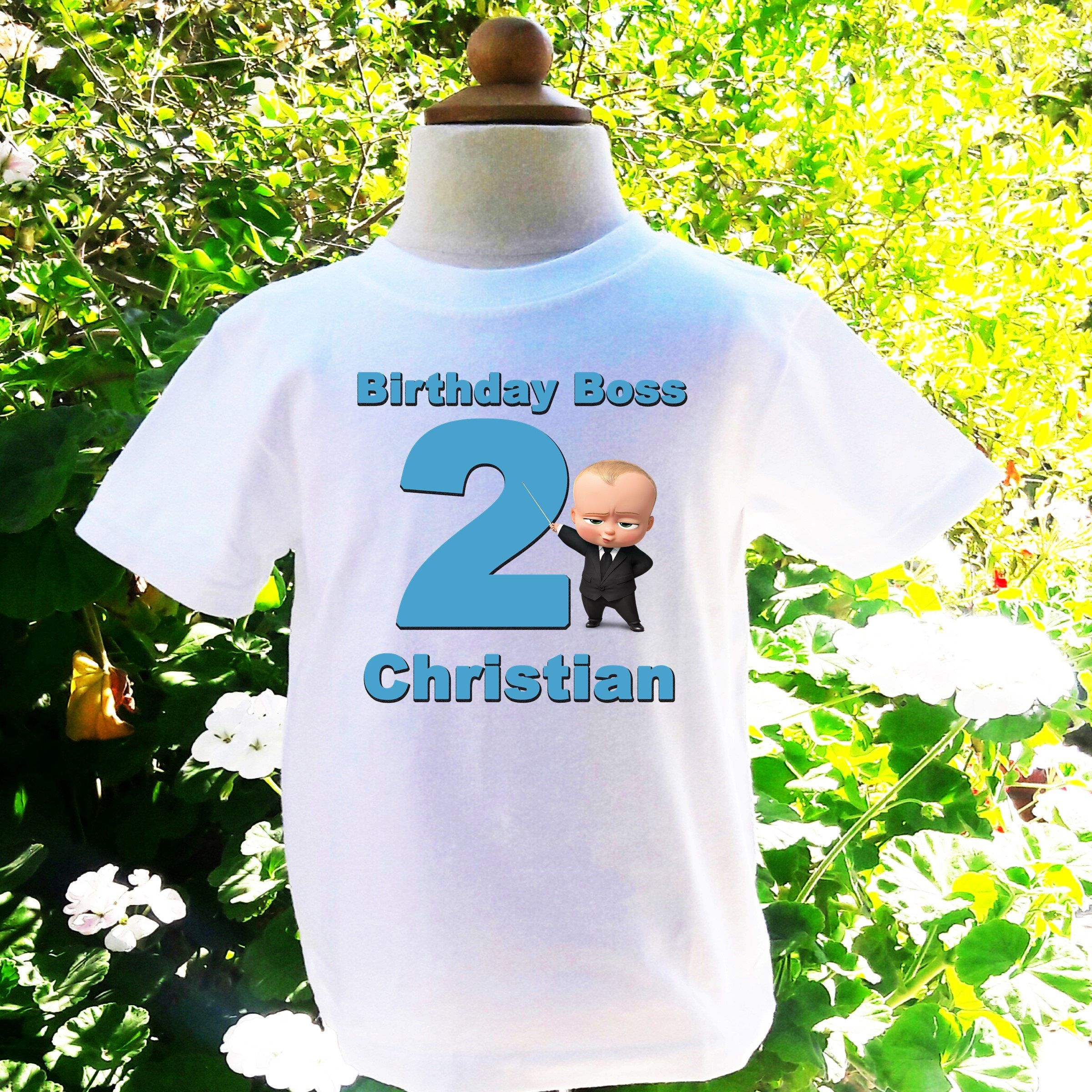 Boss Baby Birthday Shirt Boy Personalized Customized Custom BB001 By