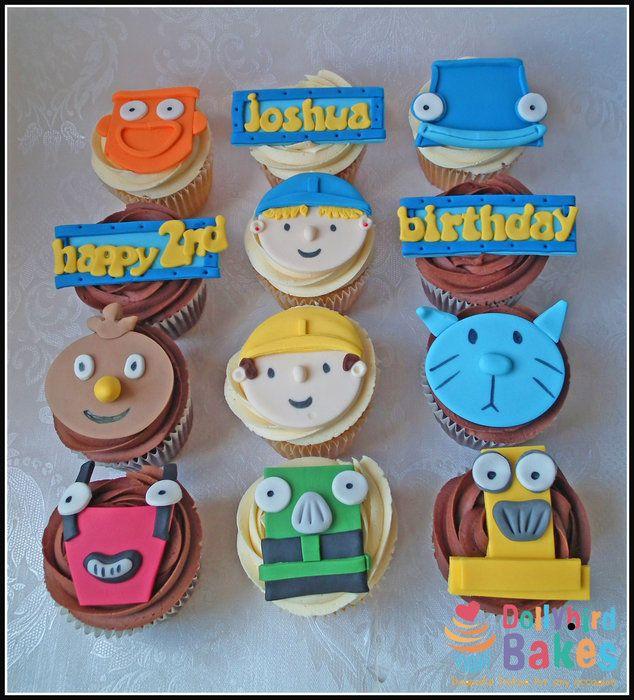 Bob the builder cupcakes | Jongen verjaardag, Verjaardag ...