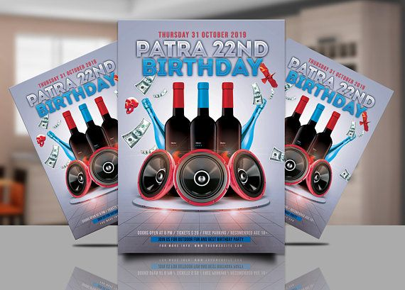 Blue And White Birthday Party Invitation Vip Invitations Blue And