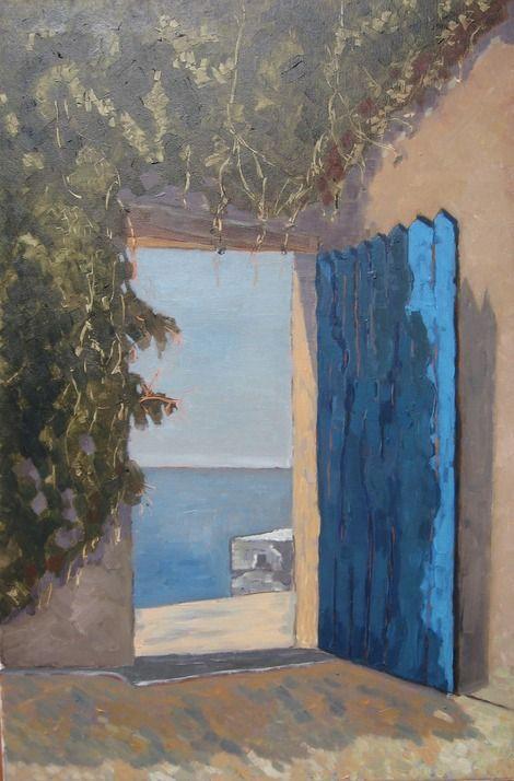 Sloba Pajkovic, Door on ArtStack #sloba-pajkovic #art peinture - peinture porte et fenetre