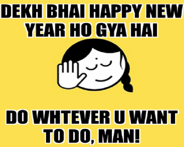 happy new year 2019 funny captions wishes memes
