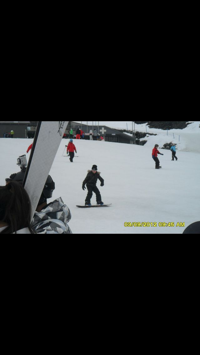 Ethan snowboarding