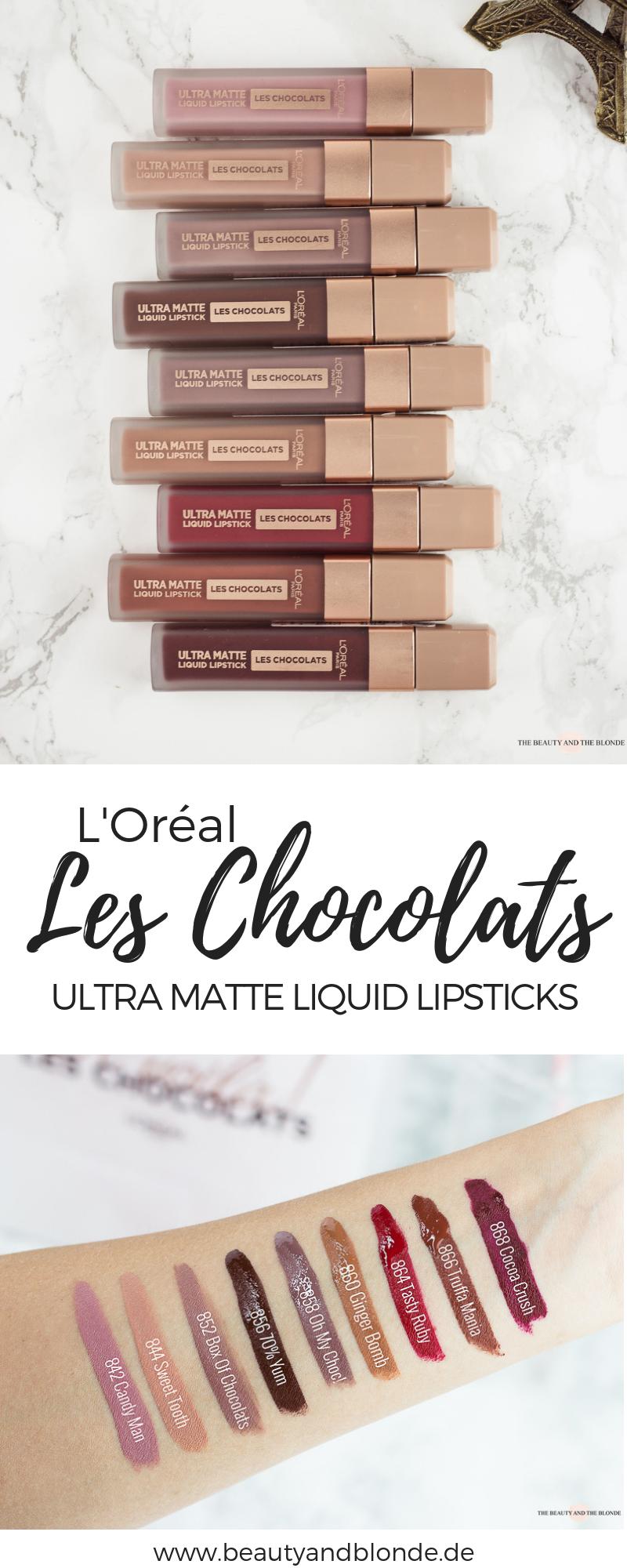 Ganz Neu In Der Drogerie Sind Die Loréal Les Chocolats Ultra Matte