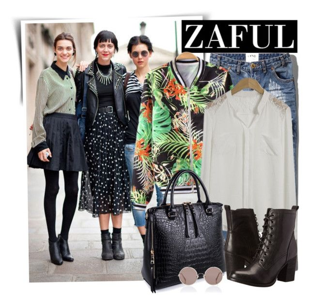 """""""Zaful"""" by oshint ❤ liked on Polyvore featuring Abercrombie & Fitch, Steve Madden, Sunday Somewhere and zaful"""