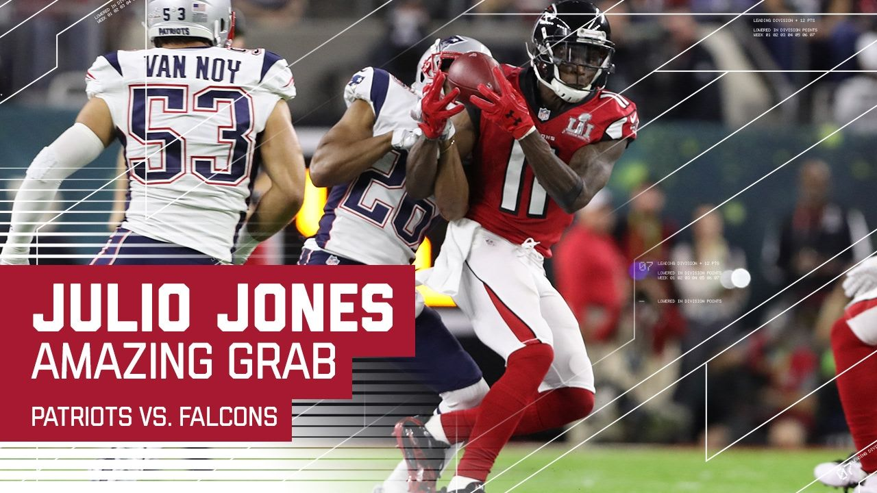 Julio Jones Makes Amazing Catch Patriots Vs Falcons Super Bowl Li Julio Jones Super Bowl Li Super Bowl