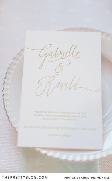 Beautifully classic | Photographer: Christine Meintjes Photography | Stationery : Cotton Paper | Coordinating : Passionphotography
