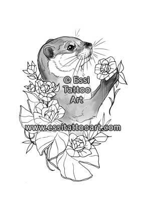 Otter by Essi Tattoo. Online store: www.essitattooart.com