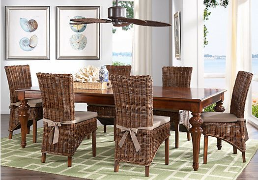 Dark Wood Dining Room Chairs Amusing Key West 5 Pc Diningroom Furniture  Home Decor Inspiration Review