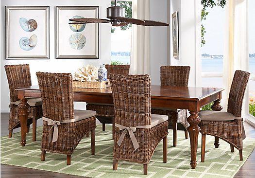 Cindy Crawford Home Key West Dark 5 Pc Dining Room