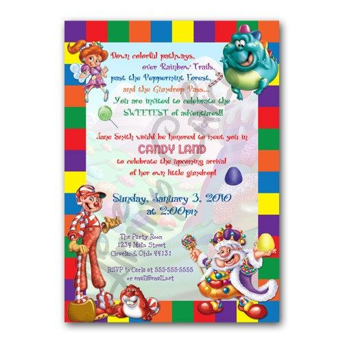 Personalized CANDYLAND Birthday or Shower Invitation Digital File
