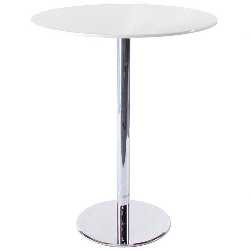 Modern Bar Table With Round White