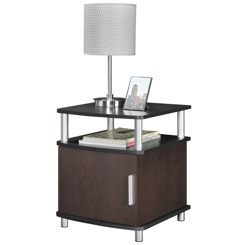 Elian End Table With Storage End Tables With Storage Black End